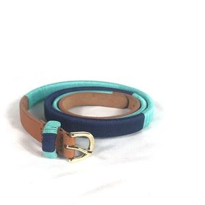 J. Crew Color Block Thread Wrapped Leather Belt